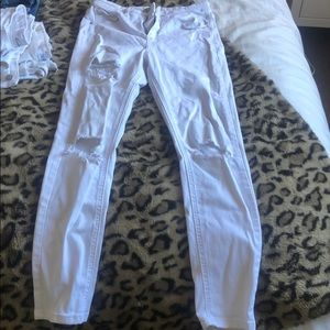 Top shop Leigh White Skinny Ankle Jeans